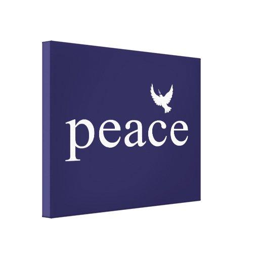 Cita inspirada de la paz de los azules marinos impresion en lona