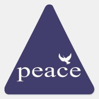 Cita inspirada de la paz de los azules marinos pegatina de trianguladas
