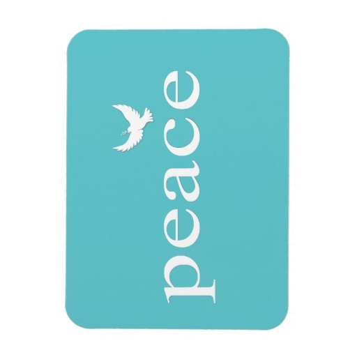 Cita inspirada de la paz del trullo imán rectangular