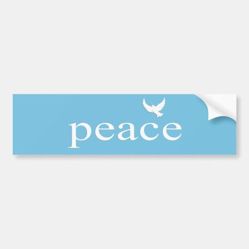 Cita inspirada de la paz etiqueta de parachoque