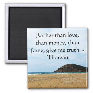 Cita inspirada de la VERDAD de Henry David Thoreau Imán Cuadrado