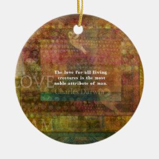Cita inspirada de los derechos de los animales de ornamento de navidad
