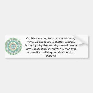 Cita inspirada de motivación de Buda Pegatina Para Auto