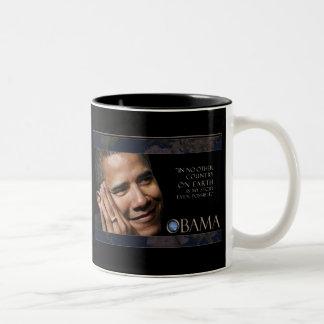 Cita inspirada de Obama Taza Dos Tonos