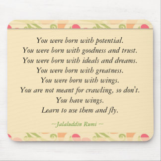 Cita inspirada de Rumi Alfombrilla De Ratones