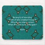 Cita inspirada de Rumi con diseño tribal Alfombrillas De Raton