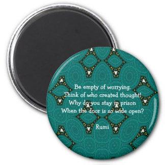 Cita inspirada de Rumi con diseño tribal Imán Redondo 5 Cm
