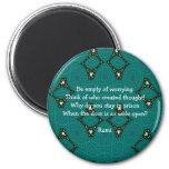 Cita inspirada de Rumi con diseño tribal Imán