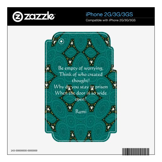 Cita inspirada de Rumi con diseño tribal iPhone 3GS Skins