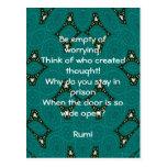 Cita inspirada de Rumi con diseño tribal Tarjeta Postal