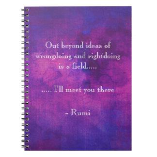 Cita inspirada de Rumi en extracto púrpura Libretas