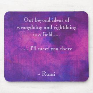 Cita inspirada de Rumi en extracto púrpura Mousepads
