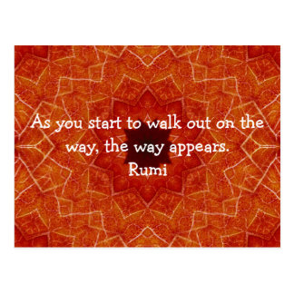 Cita inspirada de Rumi que dice sobre la fe Tarjeta Postal