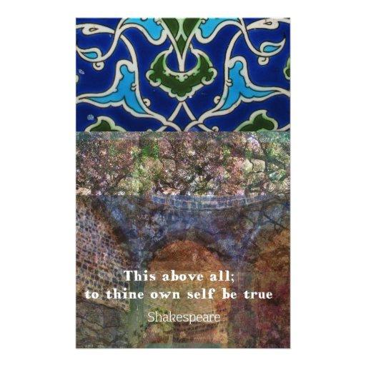 Cita inspirada de Shakespeare Papeleria Personalizada