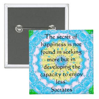 Cita inspirada de Sócrates sobre Minimalism Pins