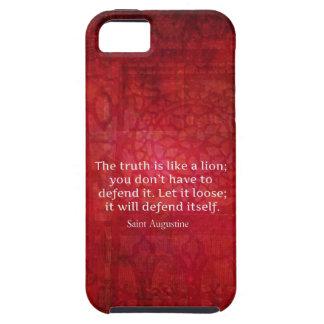Cita inspirada de St Augustine en VERDAD iPhone 5 Case-Mate Cárcasa