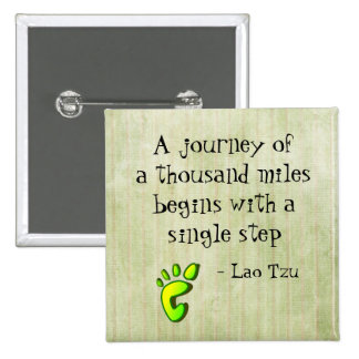 Cita inspirada de Tzu del Lao Pin Cuadrada 5 Cm