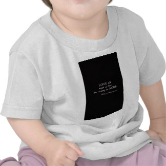 Cita inspirada de William Shakespeare sobre amor Camiseta