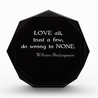 Cita inspirada de William Shakespeare sobre amor