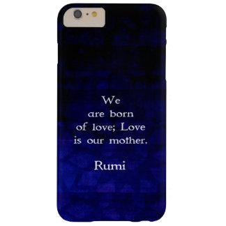 Cita inspirada del amor de Rumi sobre sensaciones Funda De iPhone 6 Plus Barely There