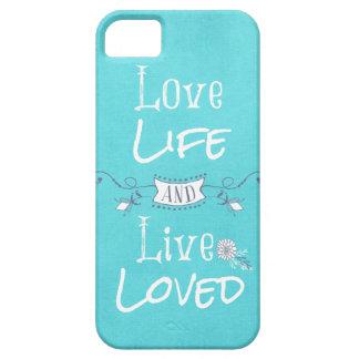 Cita inspirada del amor y de la vida iPhone 5 carcasas