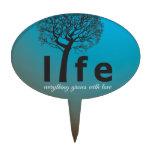 Cita inspirada del árbol de la vida del trullo decoración de tarta