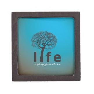 Cita inspirada del árbol de la vida del trullo cajas de joyas de calidad