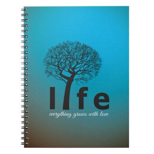 Cita inspirada del árbol de la vida del trullo notebook