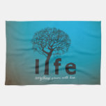 Cita inspirada del árbol de la vida del trullo toallas