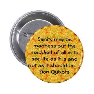 Cita inspirada del Don Quijote Pin