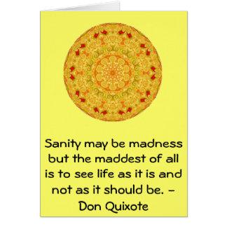 Cita inspirada del Don Quijote Tarjeta De Felicitación