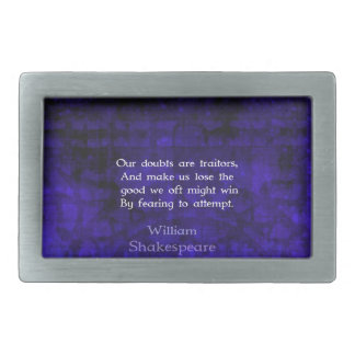 Cita inspirada del valor de William Shakespeare Hebillas Cinturón Rectangulares