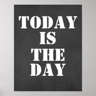 Cita inspirada: El hoy es el día Póster