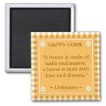 Cita inspirada - hogar feliz imanes de nevera