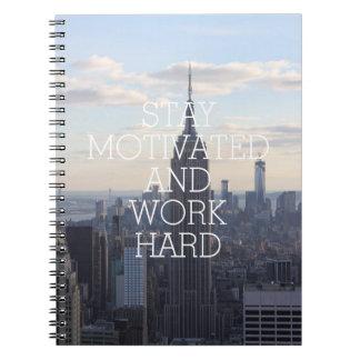 Cita inspirada motivada estancia NYC del trabajo Notebook