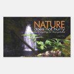 Cita inspirada -- Naturaleza Pegatina Rectangular