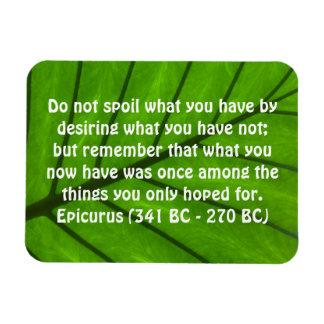 Cita inspirada por el imán de Epicurus