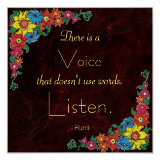 Cita inspirada por Rumi Póster