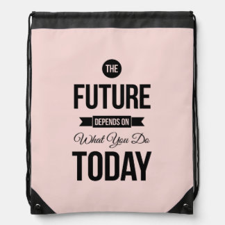 Cita inspirada rosada el futuro mochila