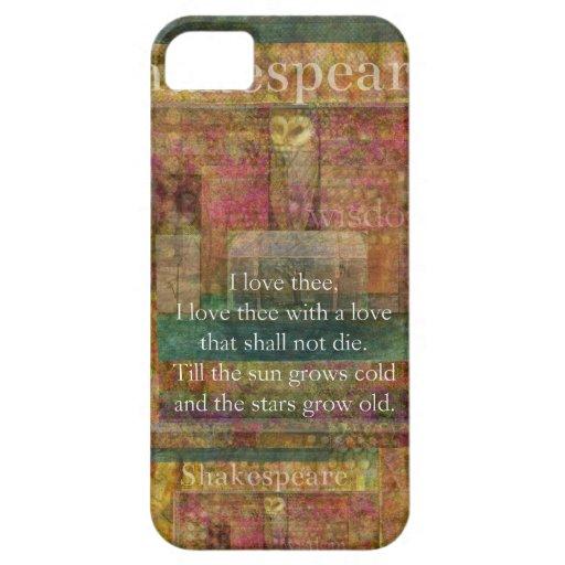 Cita inspirada sobre amor de Shakespeare iPhone 5 Cárcasas