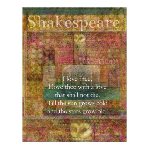 Cita inspirada sobre amor de Shakespeare Membrete