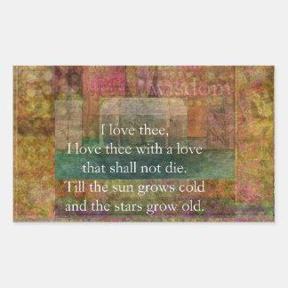 Cita inspirada sobre amor de Shakespeare Rectangular Altavoz