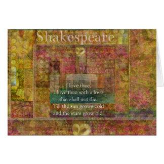 Cita inspirada sobre amor de Shakespeare Felicitacion