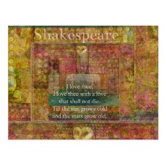 Cita inspirada sobre amor de Shakespeare Tarjeta Postal