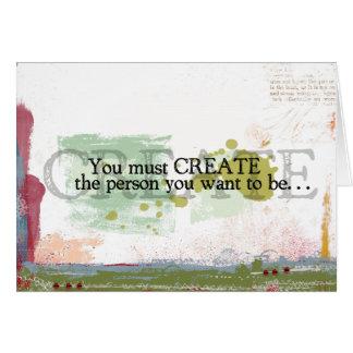 cita inspirada tarjeta de felicitación