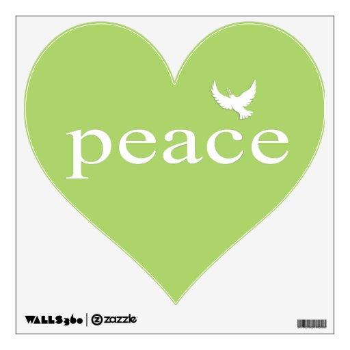Cita inspirada verde de la paz