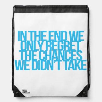 Cita inspirada y de motivación mochila