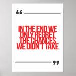 Cita inspirada y de motivación poster