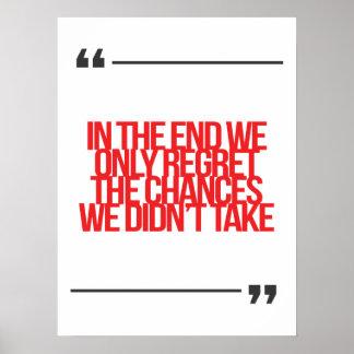 Cita inspirada y de motivación póster