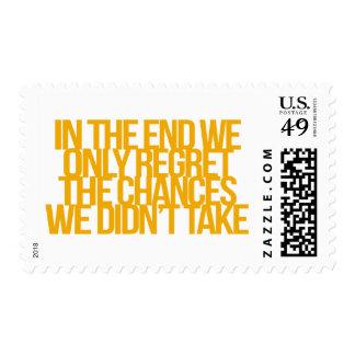 Cita inspirada y de motivación timbre postal